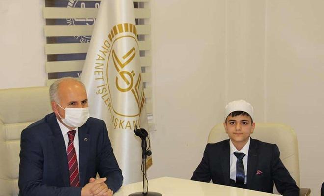 14 yaşındaki çocuk hafızlık yarışmasında Türkiye birincisi oldu