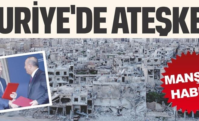 Suriye`de ateşkes