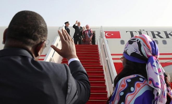 Erdoğan Dakar'dan ayrıldı