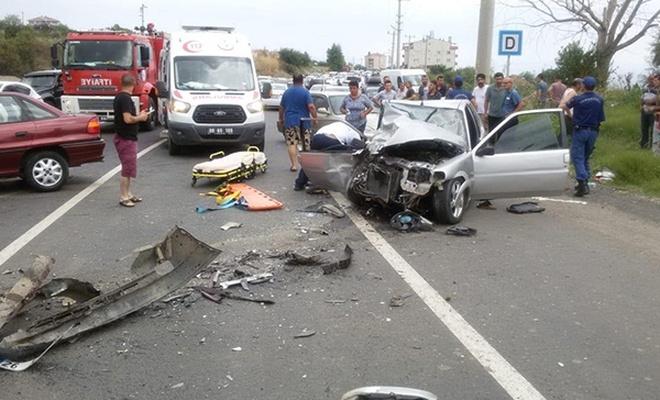 Tekirdağ`da trafik kazası: 1 ölü, 4 yaralı
