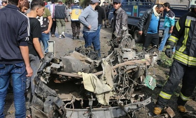 İdlib`de bombalı saldırı: 3 ölü