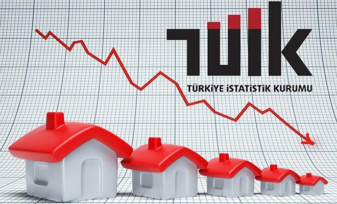 Konut satış istatistikleri açıklandı, düşüş sürüyor