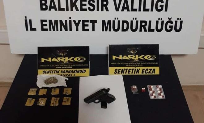 Balıkesir'de 9 ilçede uyuşturucu ve asayiş operasyonlarında 45 kişi yakalandı