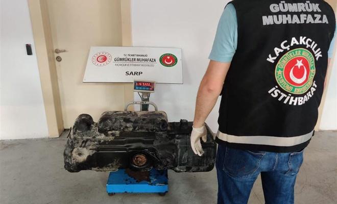 Sarp Gümrük Kapısı'nda 153 kilogram kaçak bal ele geçirildi