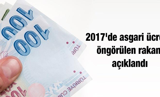 Asgari ücrette öngörülen rakam açıklandı