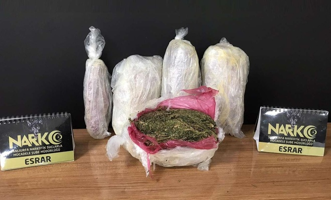 Şanlıurfa'da uyuşturucu madde operasyonu:  11 gözaltı