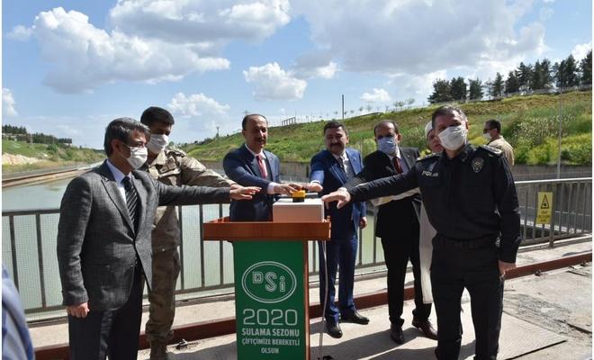 Şanlıurfa'da 2020 yılı sulama sezonu düzenlenen törenle açıldı
