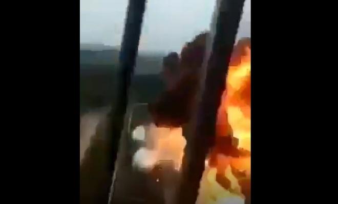 Hamas füzesi, Siyonist tesisi yerle bir etti, İşte o görüntüler