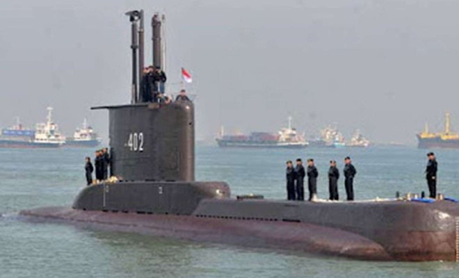 Indonesia's military lost contact with a navy submarine