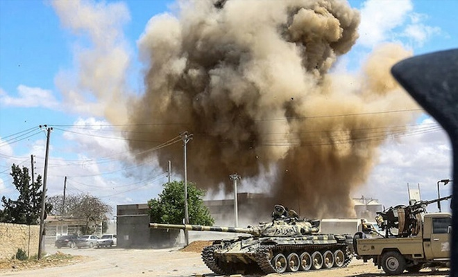 Libya ordusundan Hafter milislerine hava harekatı