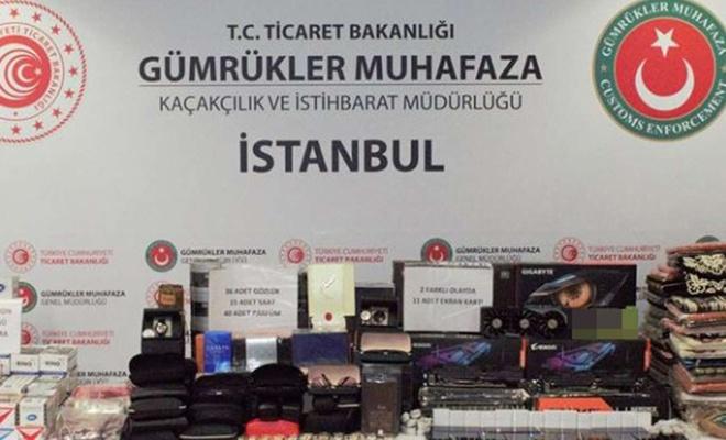 Havalimanında 2,5 milyon lira değerinde kaçak eşya ele geçirildi