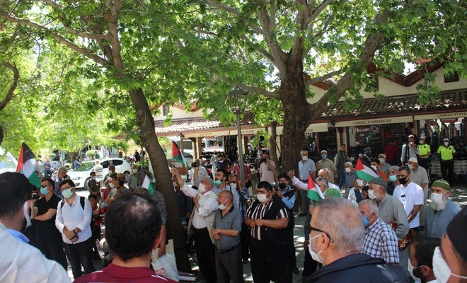 Konya'da Filistin zaferi tebrik, işgal rejimi telin edildi