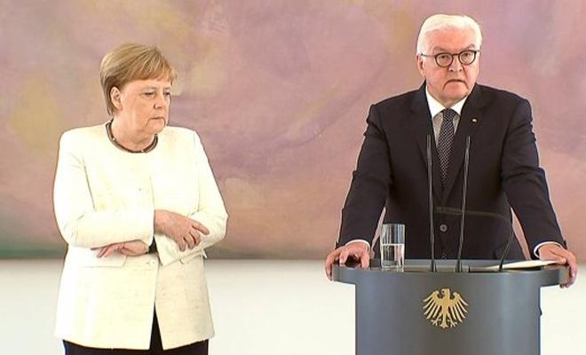 Merkel bir kez daha tir tir titredi