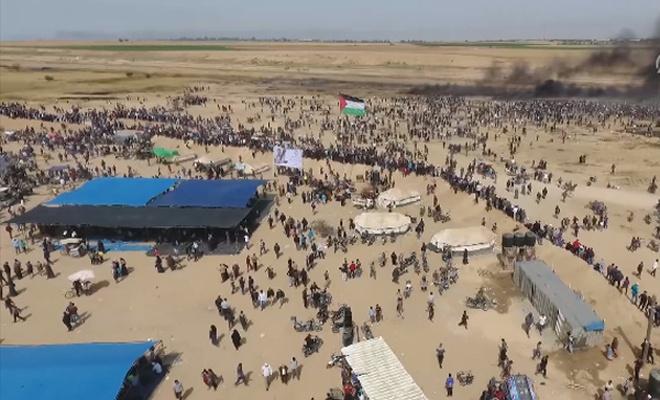 İşgalciler Gazze sınırında 1 Filistinliyi daha şehit etti