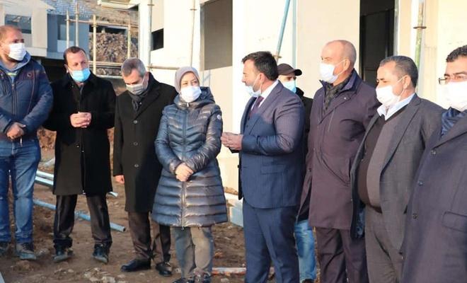 Malatya Pütürge'de deprem konutları inşası devam ediyor