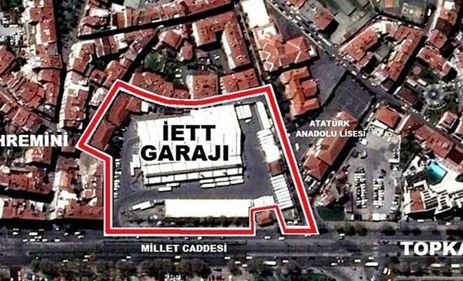 Topkapı'daki tarihi İETT garajı park oluyor