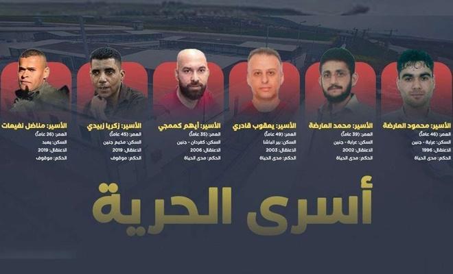 Siyonist işgal rejimi Celbu Cezaevinden kaçan son iki Filistinliyi de esir aldı