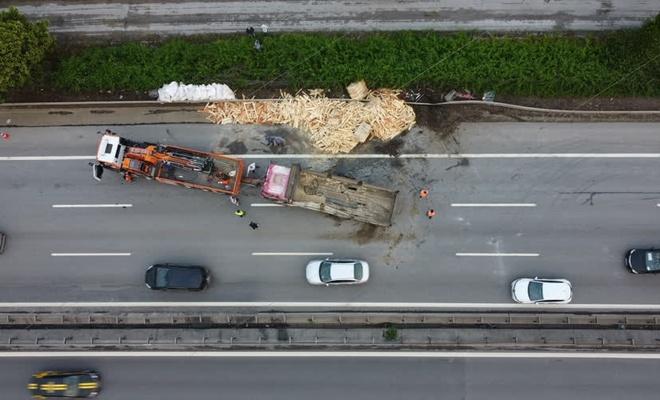 Anadolu Otoyolu'nda 13 aracın karıştığı kaza!