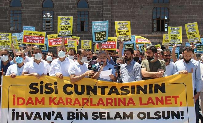 Mısır'da İhvan liderlerine yönelik çıkartılan idam kararları Diyarbakır'da kınandı