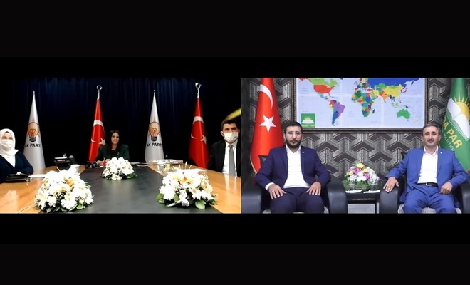 HÜDA PAR siyasi partilerle video konferans aracılığıyla bayramlaştı