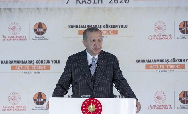 Cumhurbaşkanı Erdoğan Kahramanmaraş-Göksun yolu açılış törenine katıldı