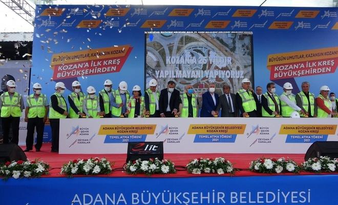 Adana'da 10 belediye başkanıyla kreş temel atma töreni
