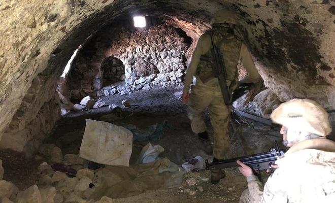 PKK'ye ait 13 sığınak ve 28 mağara kullanılmaz hale getirildi