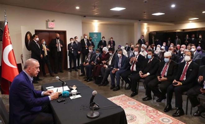 Cumhurbaşkanı Erdoğan ABD'deki Müslüman toplumunun temsilcilerini kabul etti