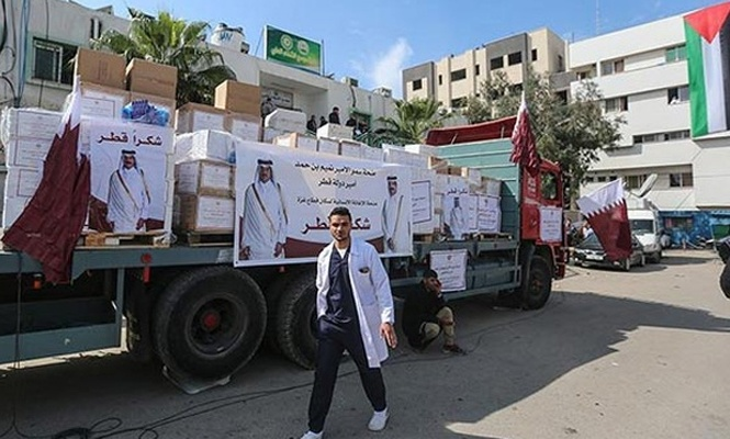 Katar`dan Gazze`ye 9 milyon dolarlık yardım