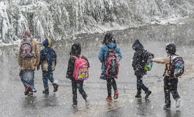 Bir ilde daha  yüz yüze eğitime kar engeli