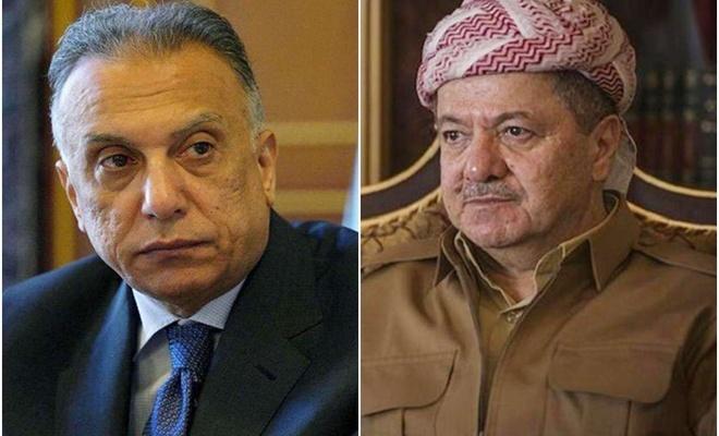 Irak Başbakanı Kazımi, Mesud Barzani ile görüştü