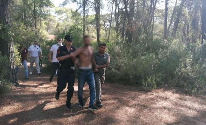 Antalya'da ormanda yangın çıkaran şahıs suçüstü yakalandı
