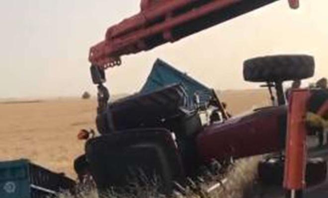 Mardin'de devrilen traktörün sürücüsü yaralandı