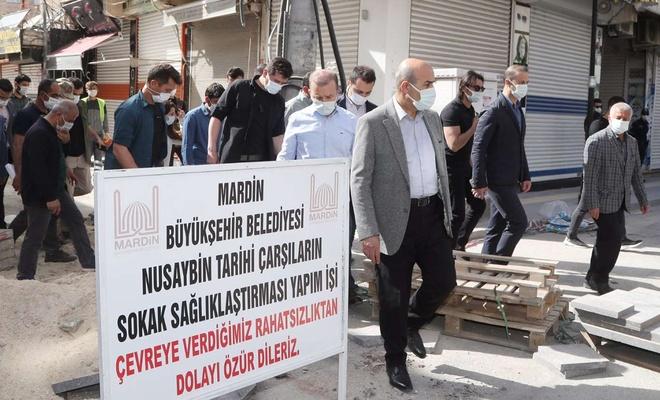 Mardin Valisi Demirtaş çalışmaları yerinde inceledi