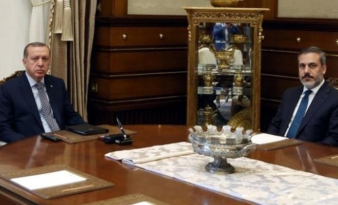 Erdoğan, MİT Başkanı Fidan ile görüştü