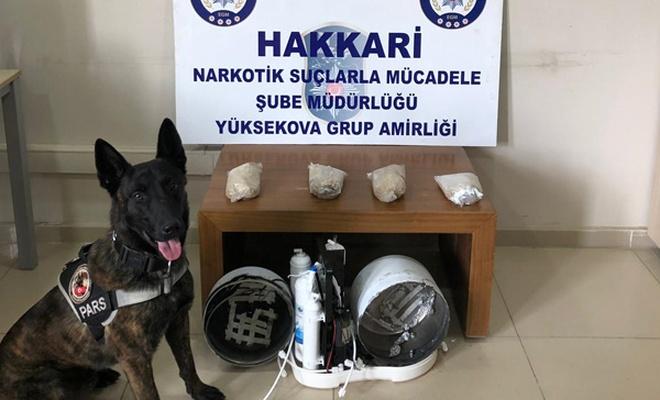 Hakkari'de kargo aracında uyuşturucu bulundu
