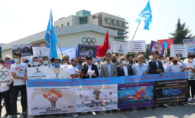 Doğu Türkistanlılar: Olimpiyatların Çin'de düzenlenmesi insanlığa karşı işlenen bir suçtur
