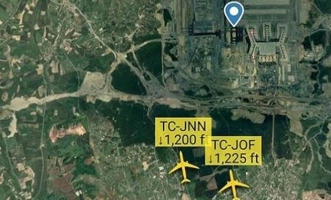 İstanbul Havalimanı'na aynı anda 2 uçak indi