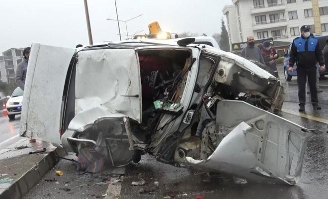 Yalova'da kaza: 1 ölü, 10 yaralı