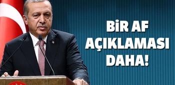 Erdoğan`dan bir af açıklaması daha!