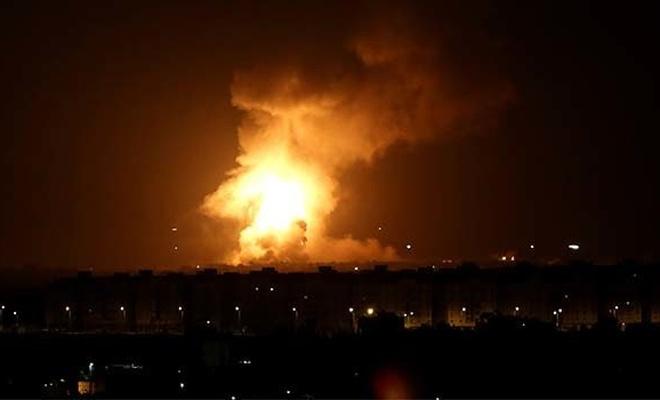 İşgalci İsrail'den Gazze'ye seri bombardıman!