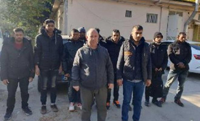 Gaziantep'te 12 düzensiz göçmen yakalandı