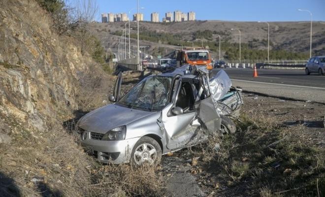 Ankara'da kamyon otomobile çarptı: 1 ölü