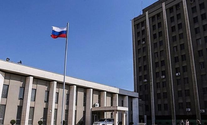 Rusya Büyükelçiliği`ne havan topu isabet etti