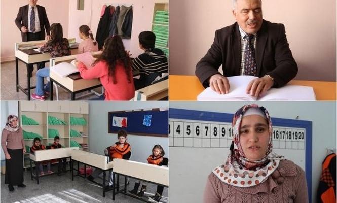 Görme engelli öğretmenler öğrencilerine umut oluyor