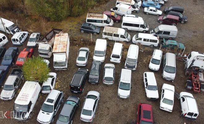 40 milyon değerindeki araçlar çürümeye terk edildi!