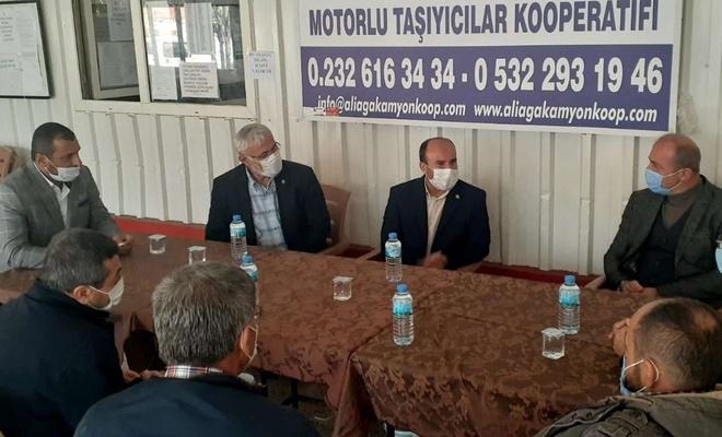 HÜDA PAR İzmir İl Başkanlığından Kamyoncular Kooperatifine ziyaret