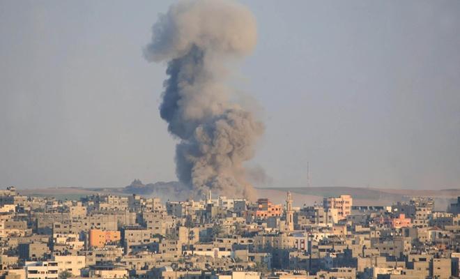 İşgal çetesinden Gazze'ye hava saldırısı