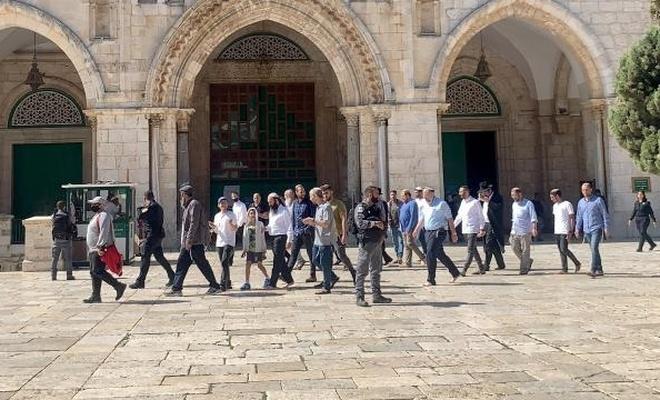 119 terörist Yahudi Mescid-i Aksa'ya baskın düzenledi