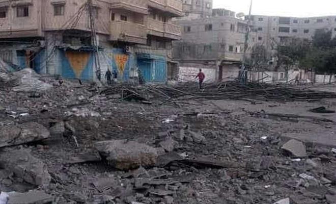 Siyonist işgal rejiminin yoğun bombardımanı su şebekesine zarar verdi
